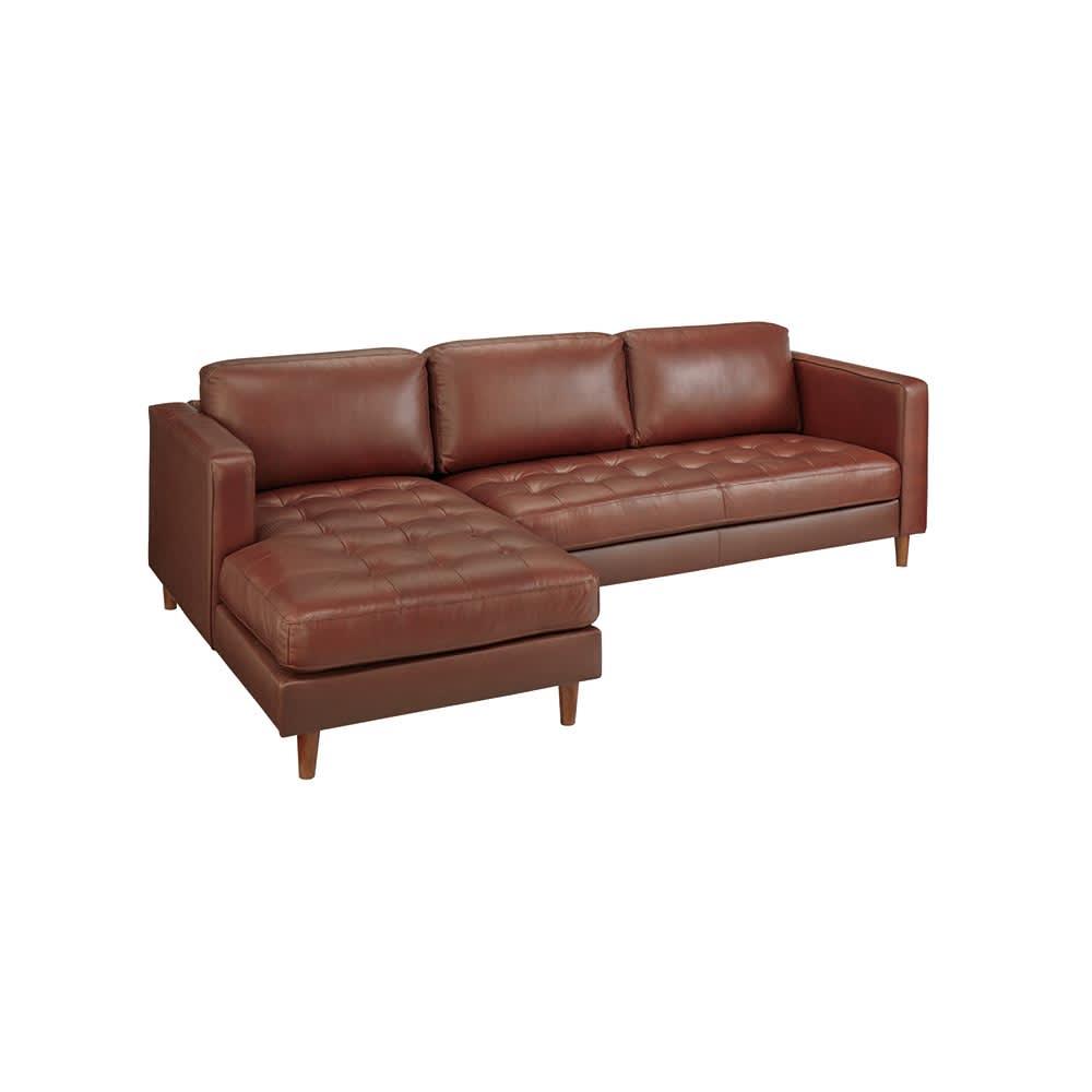 家具 収納 ソファー ソファーセット 座って右(Cammello/キャメロ 革張りソファ コーナーカウチ) H73702