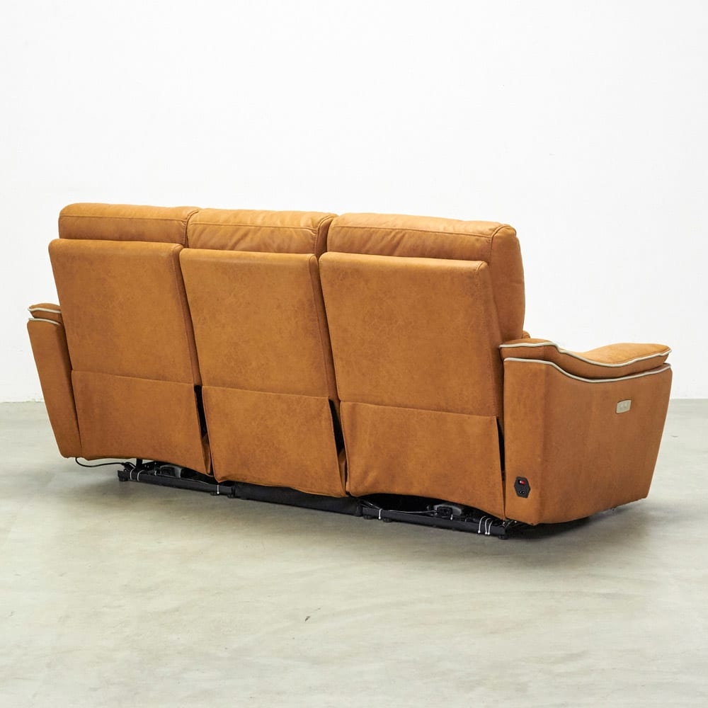 Basso/バッソ 電動リクライニングソファ 3人掛け テーブル付き