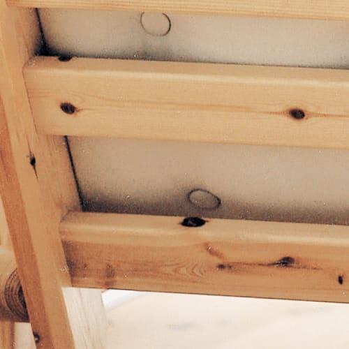 ヨーロッパ製カウチソファベッド Karup カーラップ  FutonII/フートン 木目アップ パイン天然木の自然のままの節や木目を生かしたナチュラルな仕上がり