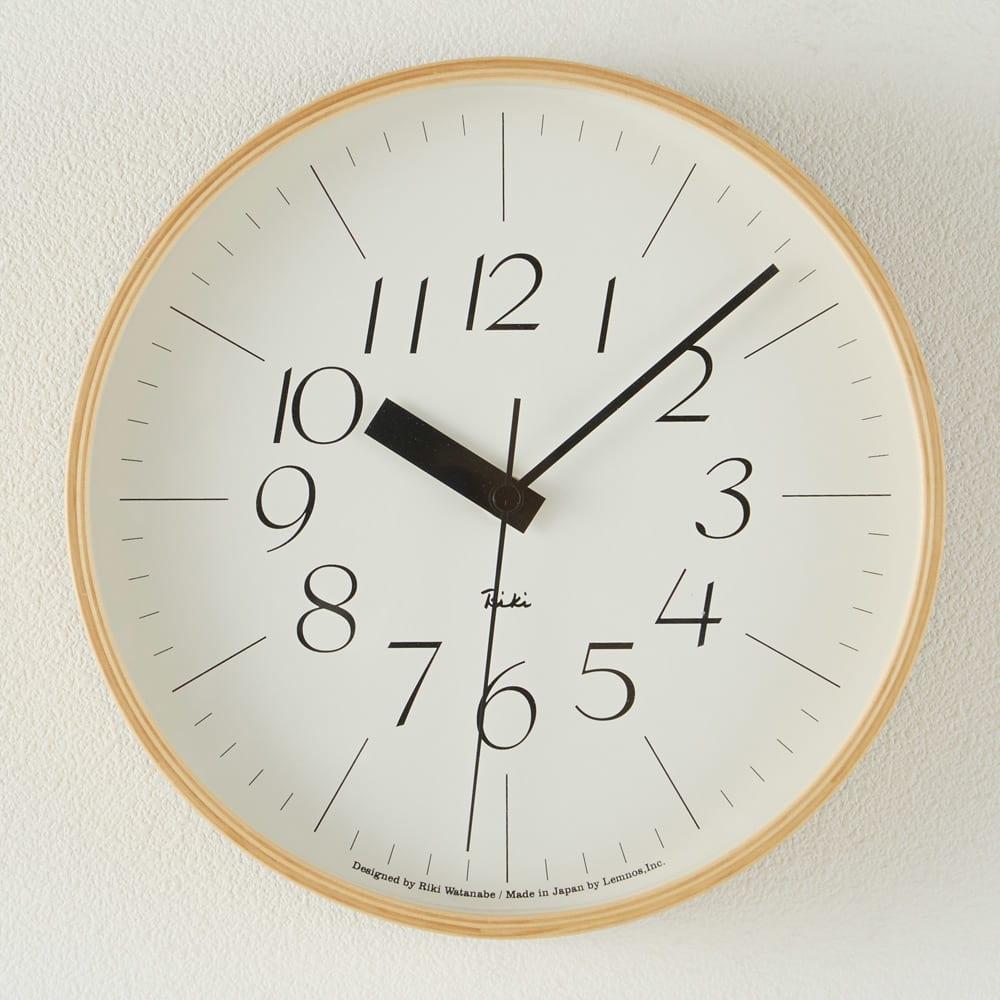 RIKI CLOCK/リキクロック 電波時計 径25.4cm[デザイン:渡辺力] H74501