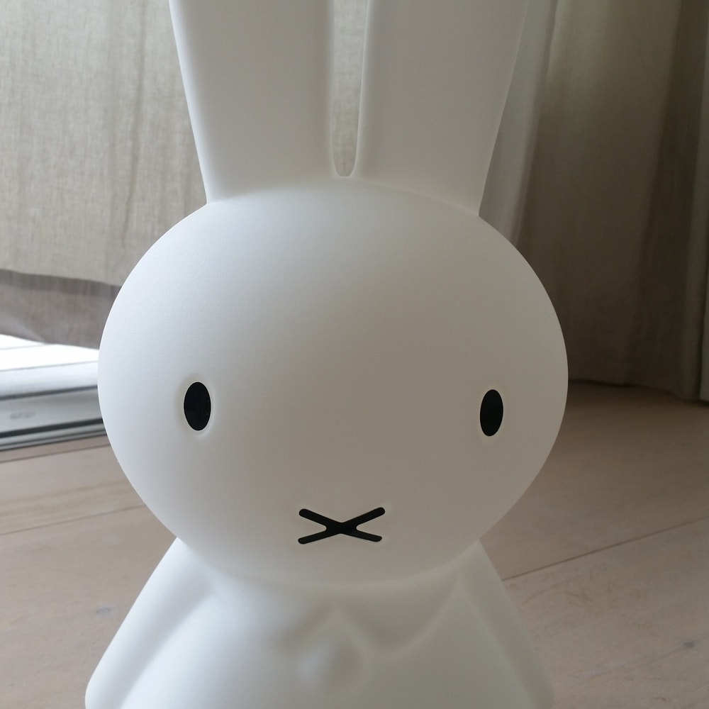Mr.Maria miffy/ミスターマリア ミッフィー ルームライト ミッフィオリジナルランプ ミッフィーの可愛い顔がしっかりと再現されています。