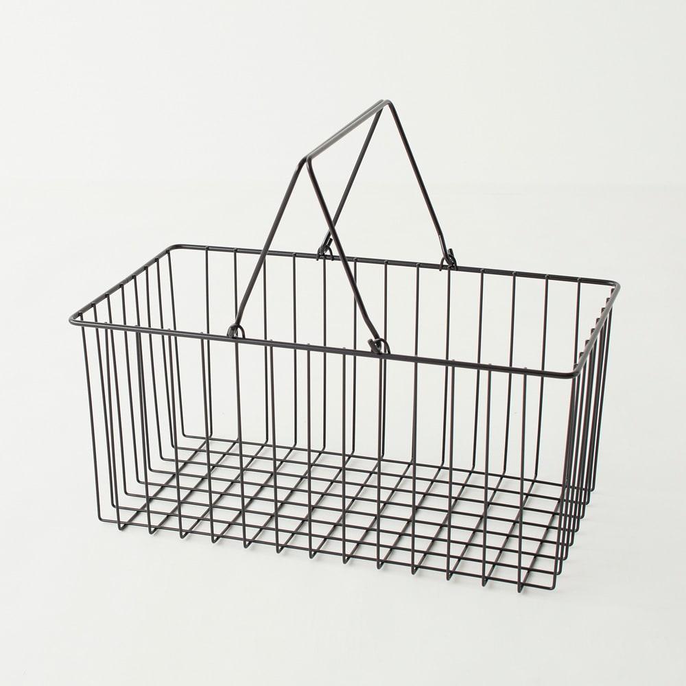 Nifa/ニファ お風呂サイドワゴン 2段 カゴ1個付き 収納力のあるバスケット。(カゴ内寸cm)幅41×深さ19.5×奥行22