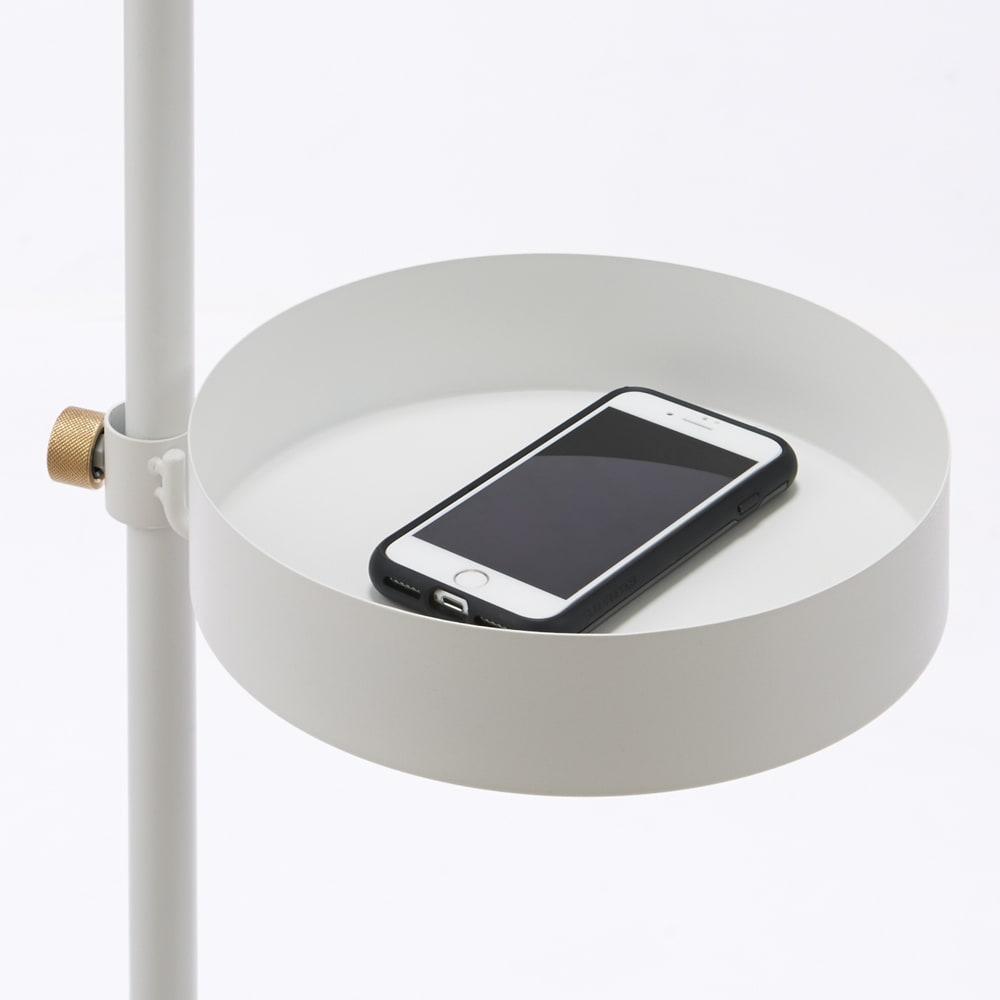 DRAW A LINE/ドローアライン 可動式収納トレー (イ)ホワイト トレーは携帯電話やキーの指定席にも。