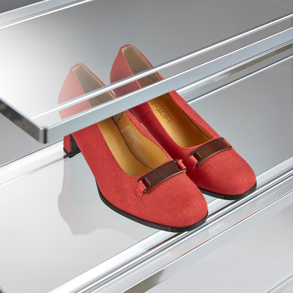 アクリル棚シューズラックシリーズ シューズラック ハイ 幅71cm 靴を美しく飾りながら収納できます。