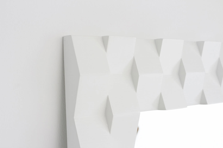 PHILOS/フィロス プリズミー壁掛けミラー・ウォールミラー 幅60×高さ60cm ダークブラウン