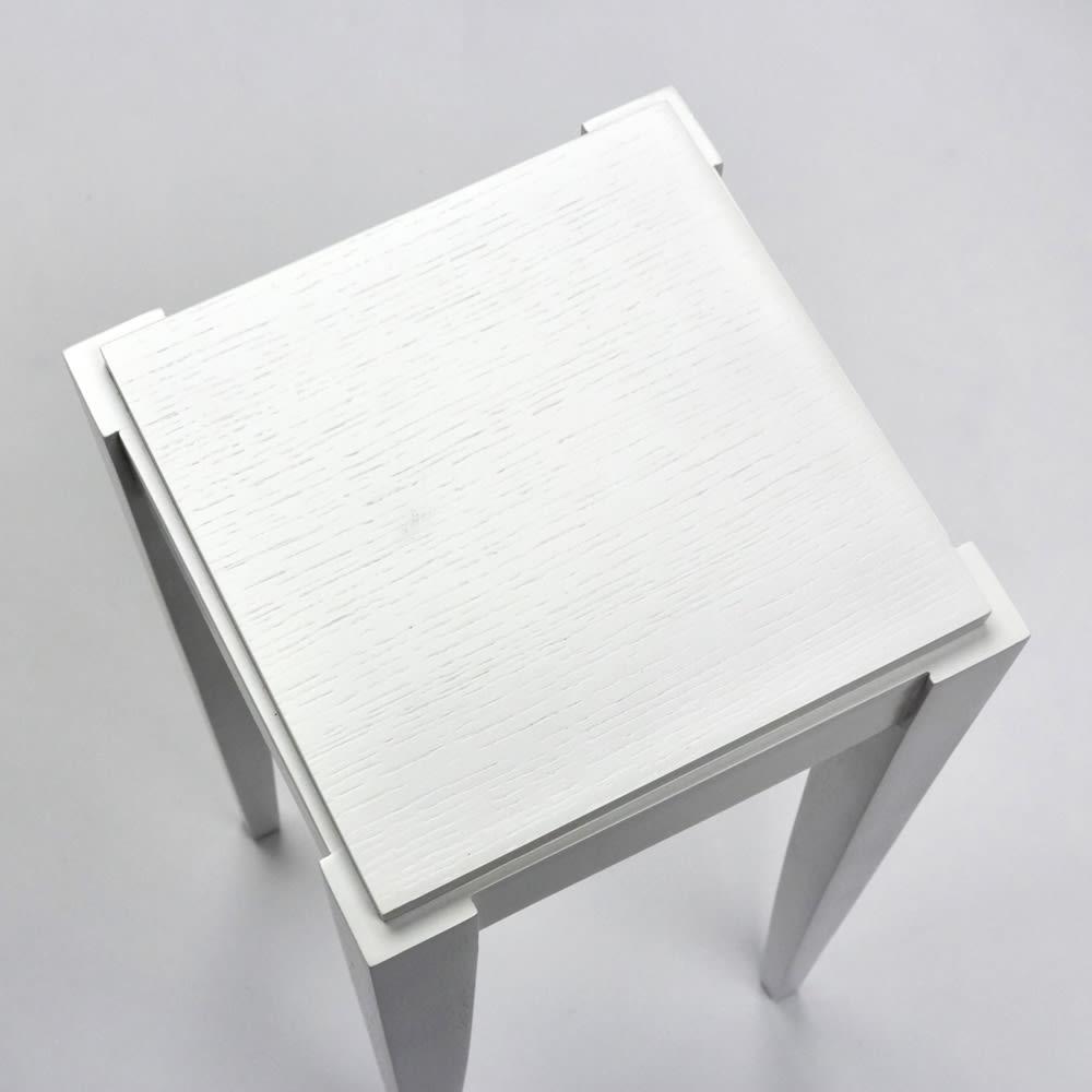 PHILOS/フィロス スリムレッグシリーズ ネストテーブル(大・中・小の3台セット) ホワイトウォッシュ 天板