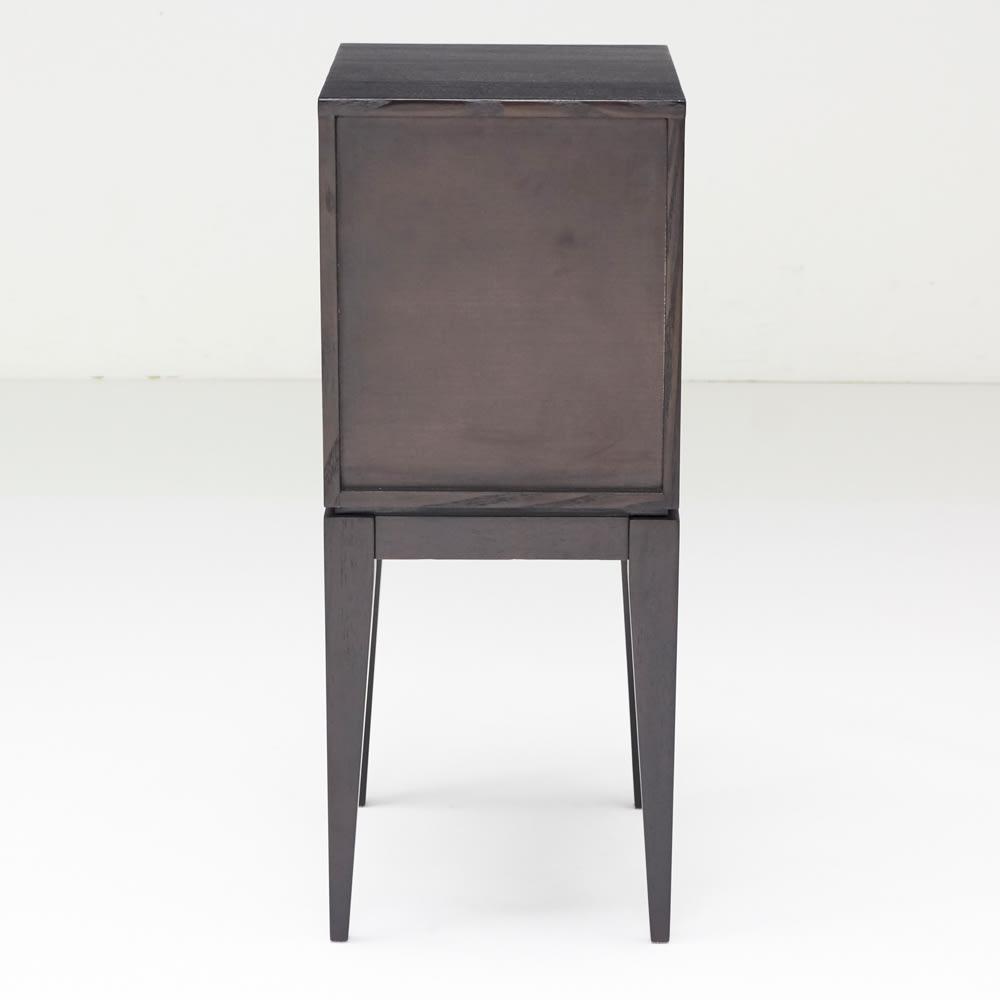 PHILOS/フィロス スリムレッグシリーズ サイドチェスト・ナイトテーブル 幅35cm高さ86.5cm ダークブラウン 背面