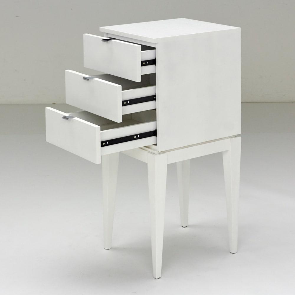 PHILOS/フィロス スリムレッグシリーズ サイドチェスト・ナイトテーブル 幅35cm高さ86.5cm ホワイトウォッシュ