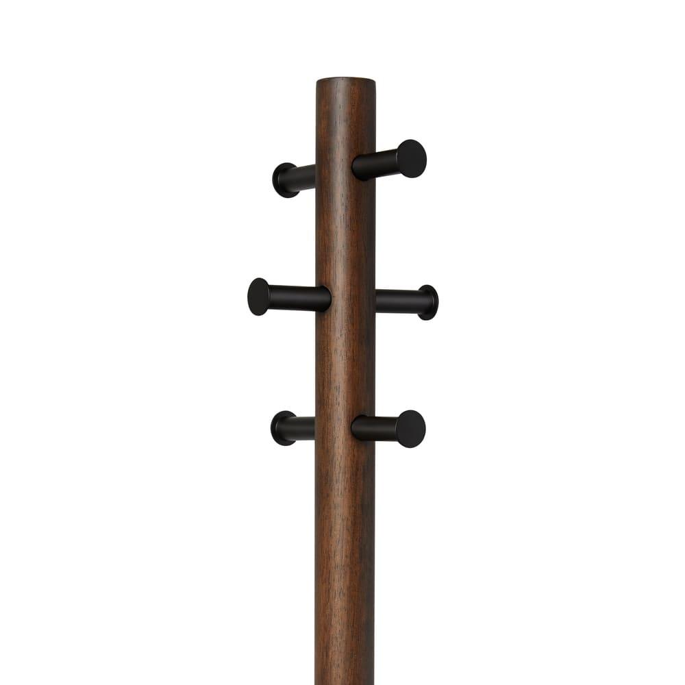 Pillar/ピラー スツール&コートラック[umbra・アンブラ] ハンガーフックは6個付き。出番の多いファッションアイテムの定位置に。
