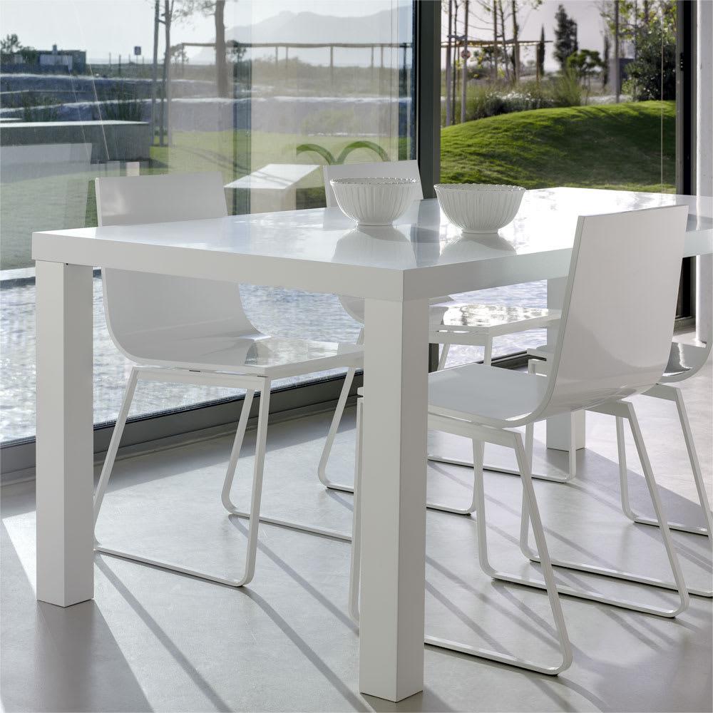 Multi マルチダイニングテーブル ウッドレッグタイプ 幅160cm コーディネート例:ホワイト