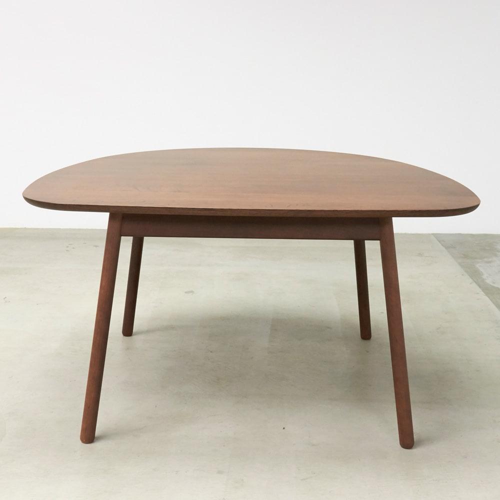 cobrina/コブリナ オーク天然木 ダイニングテーブル 幅133cm 奥行120cm ブラウン