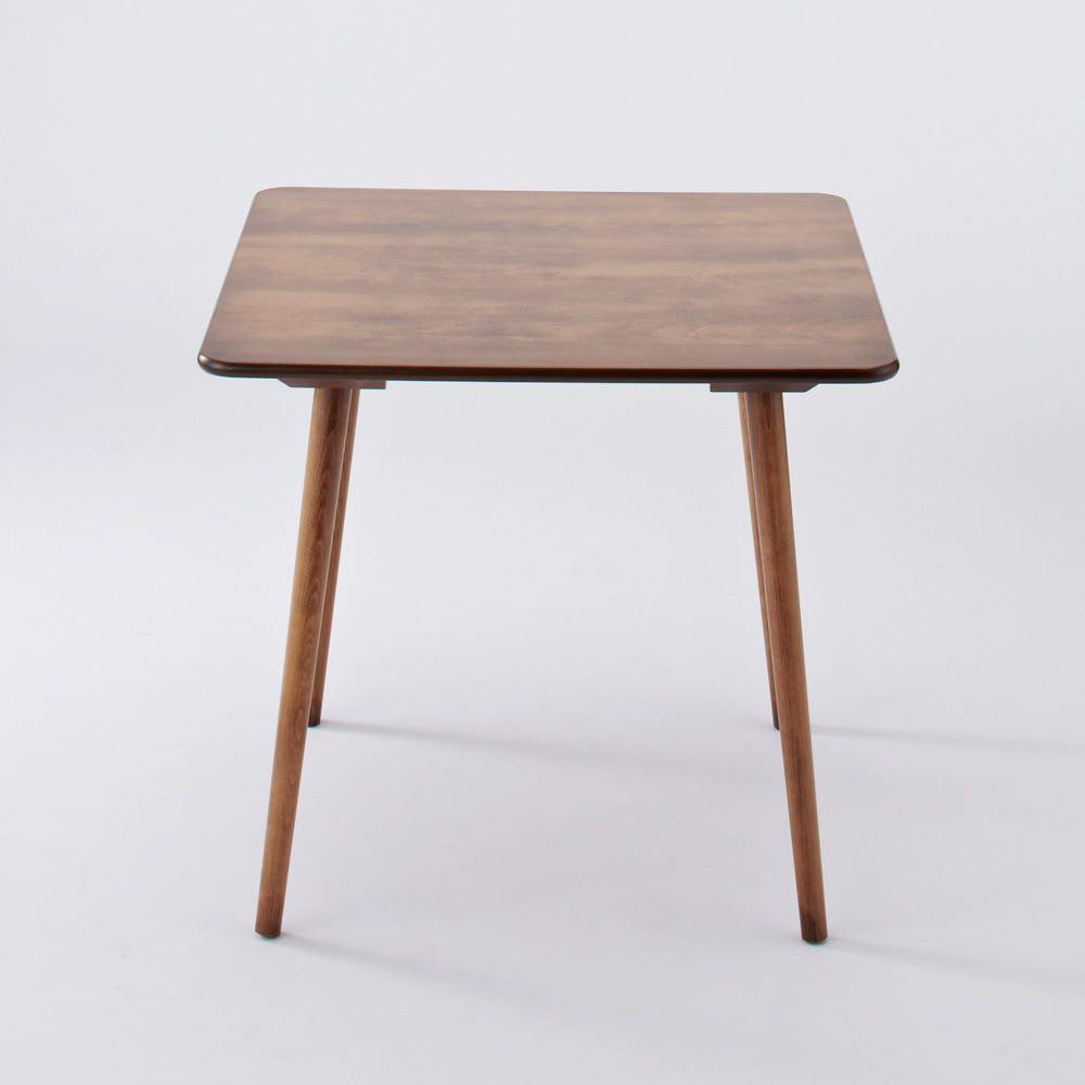 アンティーク風テーパーダイニングテーブル 正方形テーブル幅80cm×80cm[チェコTON社製] 正面