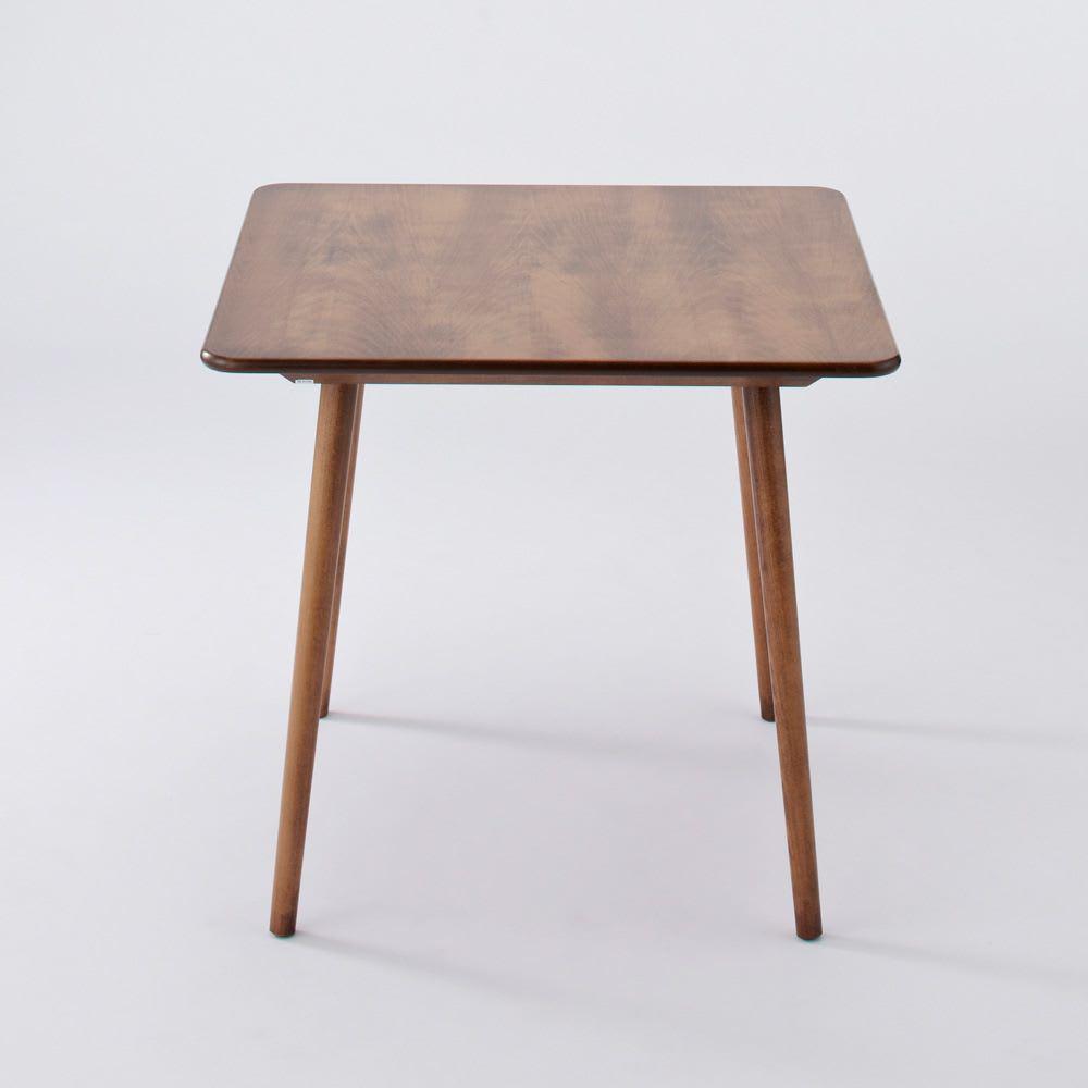 アンティーク風テーパーダイニングテーブル 正方形テーブル幅80cm×80cm[チェコTON社製] 側面