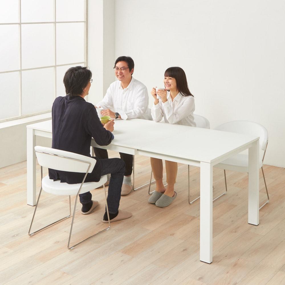 5点セット イタリア製伸長式ダイニングテーブル+NewYorkチェア4脚  テーブル幅130cm(伸長時190cm) テーブル(伸長時)