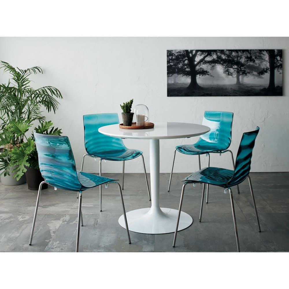 Planet プラネット 円形ダイニングテーブル 直径90cm [connubia calligaris コヌビア/カリガリス] 4人での食事。お茶なら5~6人でも。