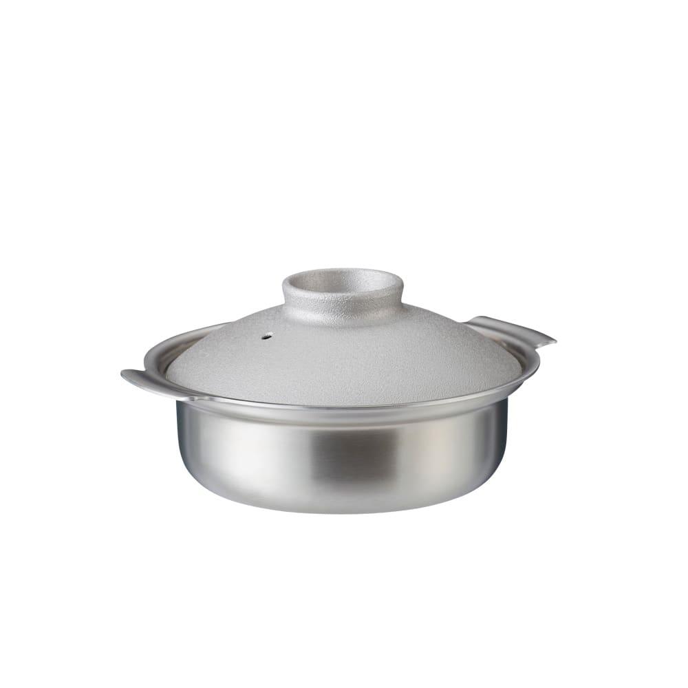 ステンレス製3層鋼DONABE 土鍋18cm シルバー