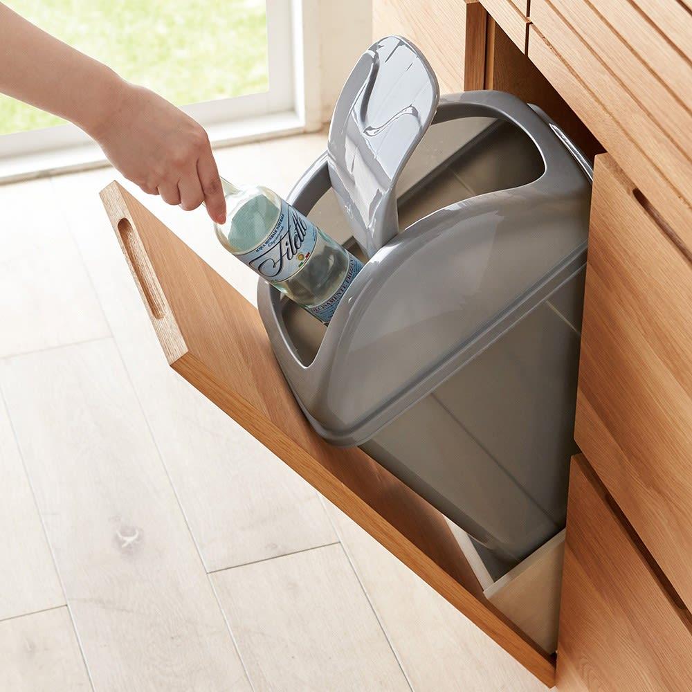 Large/ラルジュ 横格子ダストボックス 3分別(ペール3個付き) フタ付きペール付きで気になるにおいを軽減。