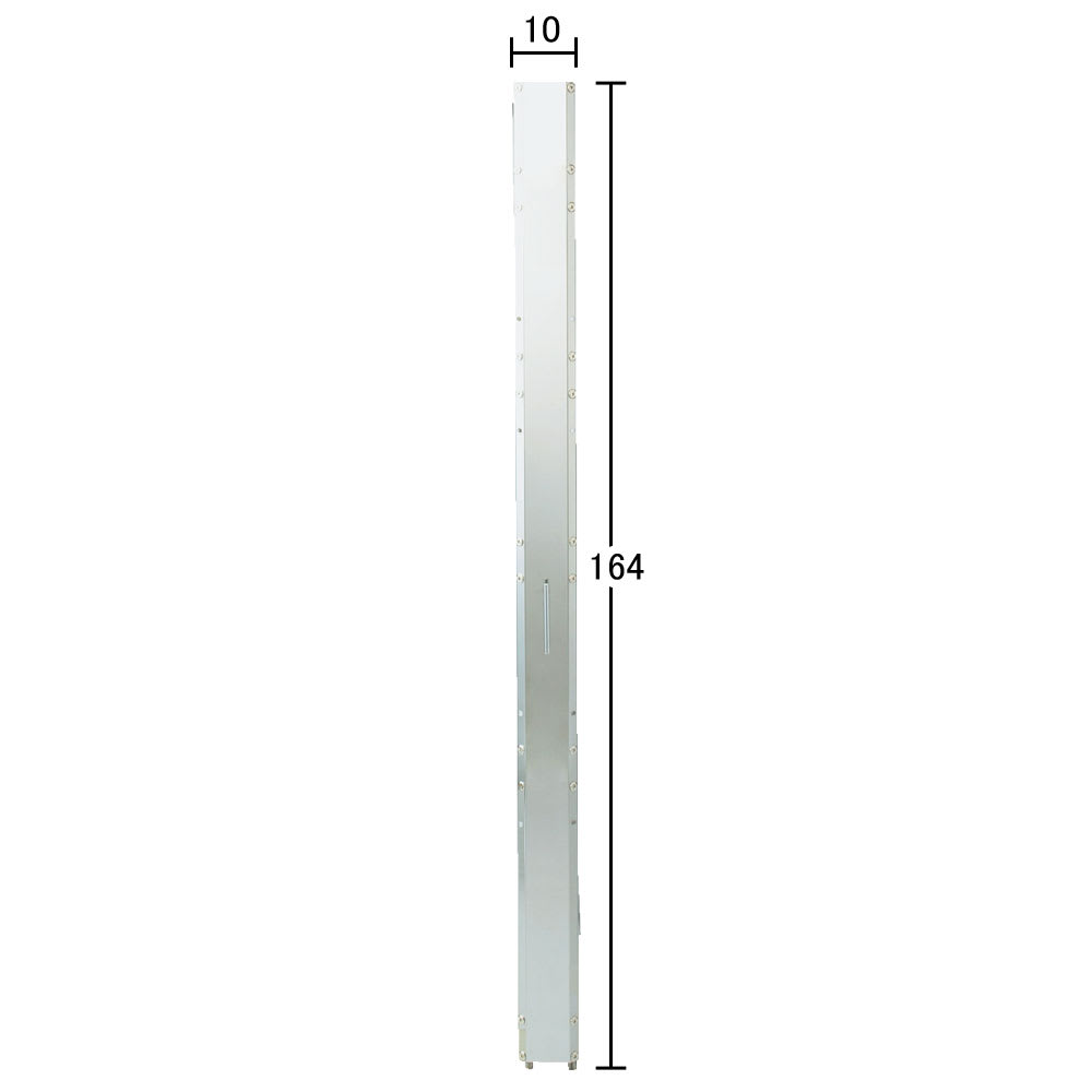 ステンレス製キッチンすき間収納ワゴン ハイタイプ(高さ164cm) 幅10奥行61cm (有効内寸cm)幅9.5×奥行57   こぼれ止めバーを付けた場合は有効幅内寸約8.9cm