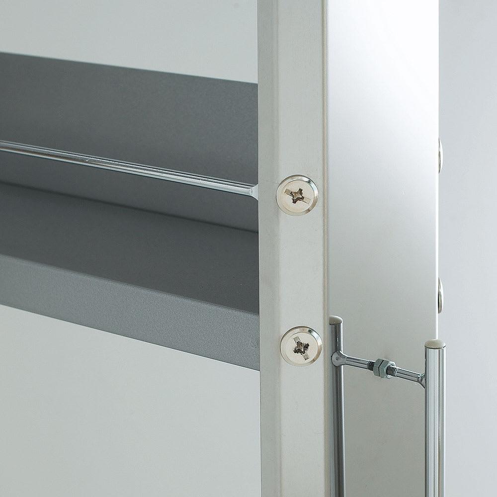 ステンレスすきま収納シリーズ ハイタイプ(高さ164cm) 幅20奥行61cm 前後ともステンレス 傷がつきにくいステンレス扉。棚板はサビにくいボンデ鋼板。