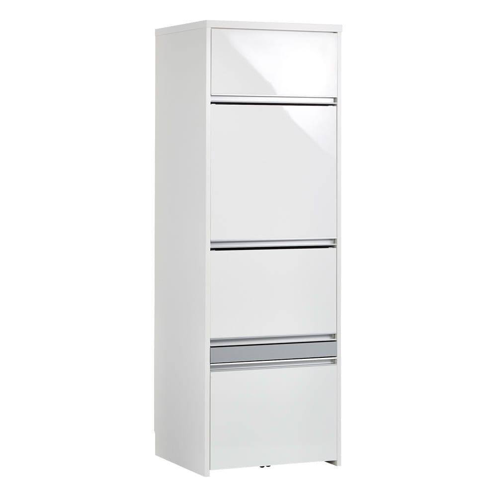Ymir/ユミル 隠せる家電収納 幅60奥行45cm 光沢のあるホワイトで清潔感のあるキッチン空間に。