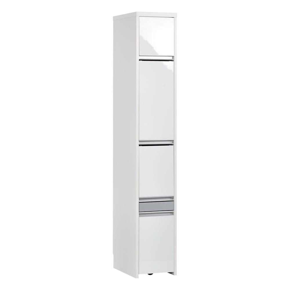 Ymir/ユミル 隠せる家電収納 幅30奥行55cm 光沢のあるホワイトで清潔感のあるキッチン空間に。