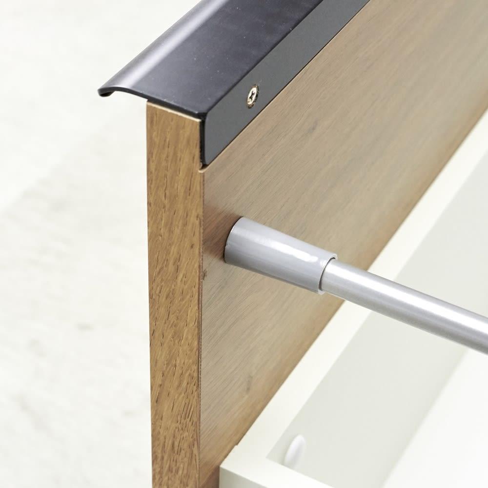 Lana/ラナ ステントップボード幅100cm 引出しはしっかりとした作りの『箱組み』を採用。開け閉めが多いキッチン使いに適した作り。