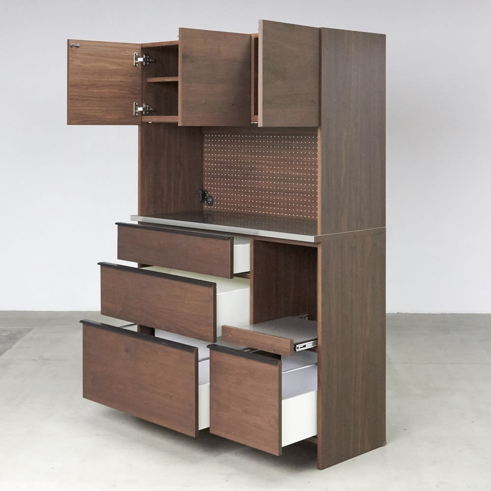 Lana/ラナ ステントップボード・キッチンボード 幅120cm コンパクトでも充実の収納ボリュームでキッチンもあっという間にすっきり。