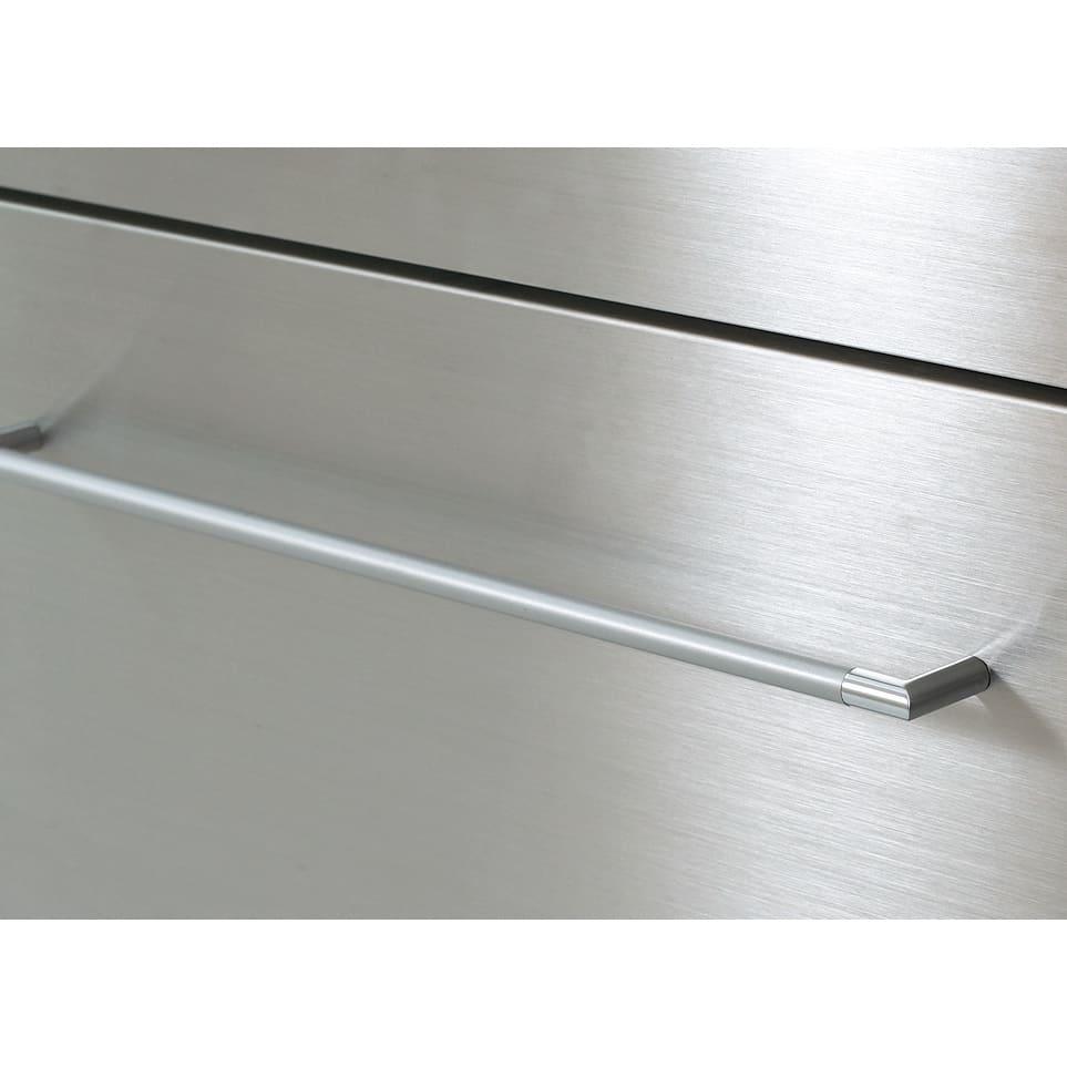SmartII スマート2 ステンレスシリーズキッチン収納 キャビネット右開き 幅40cm 前面ステンレス 前面やスライ可動棚板ドテーブルには、傷に強いステンレスを。クールなヘアライン仕上げ。