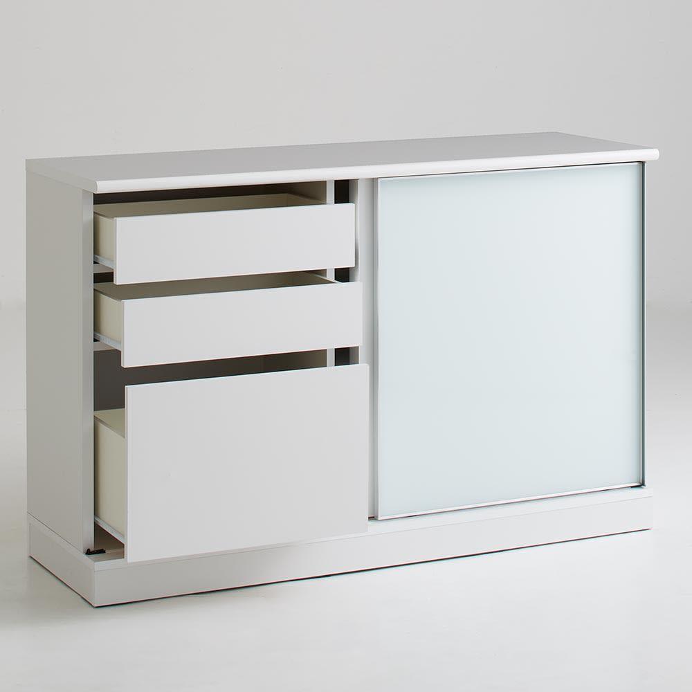 Orga/オルガ スライドキッチン収納 カウンター 幅140cm (ア)ホワイト