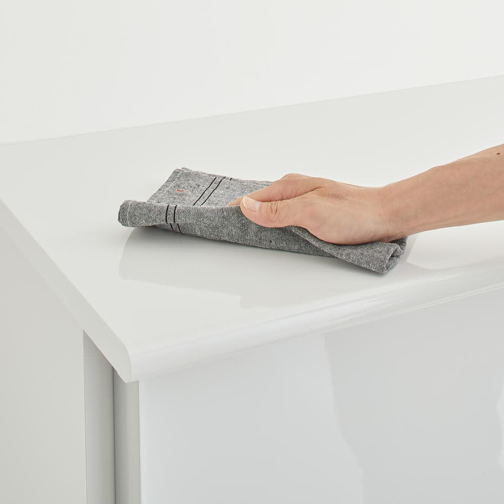 Orga/オルガ スライドキッチン収納 カウンター 幅140cm 天板は水や汚れに強いメラミン化粧で仕上げました。