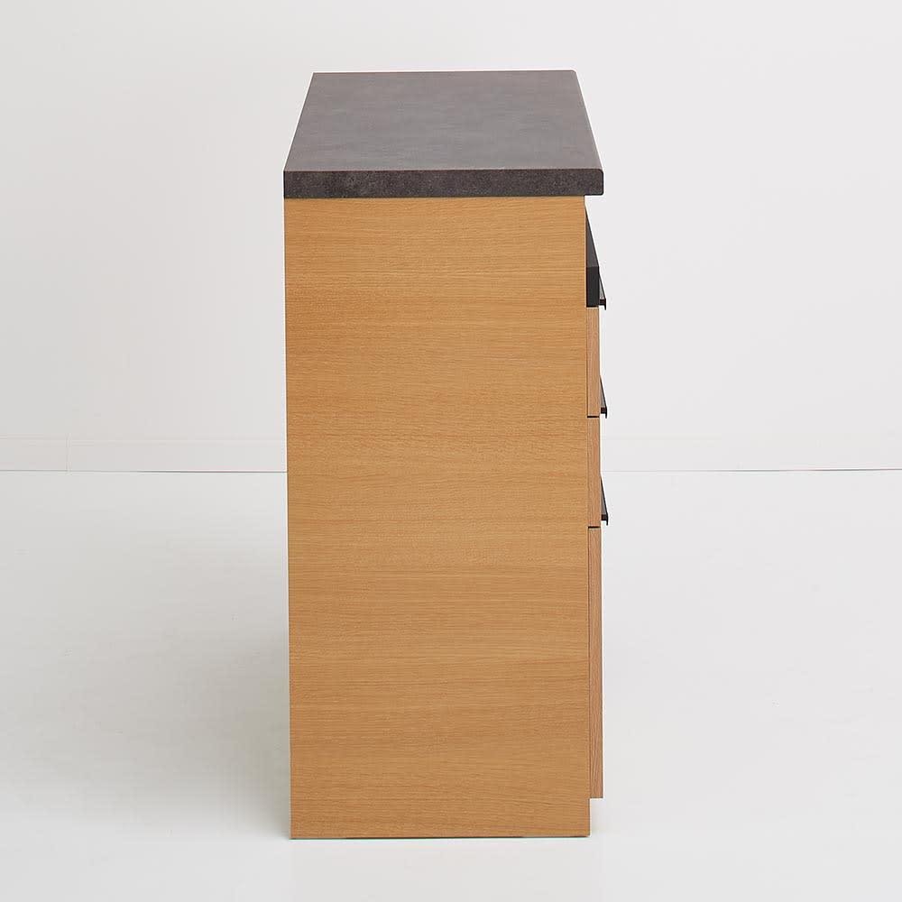 Boulder/ボルダー 石目調天板キッチンシリーズ カウンター 幅90cm 奥行45cm 側面