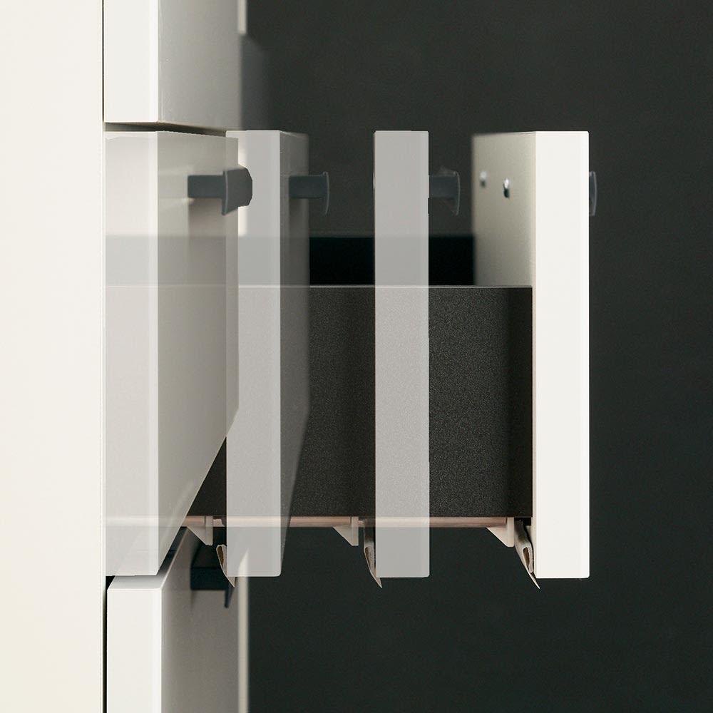 Boulder/ボルダー 石目調天板キッチンシリーズ カウンター 幅160cm 奥行45cm 引き出しはサイレントレールで静かに滑らかに開閉。