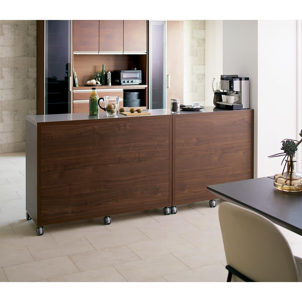 Antisala/アンティサラ カウンター収納 家電収納 幅90cm 背面化粧仕上げで間仕切り使いもできます。