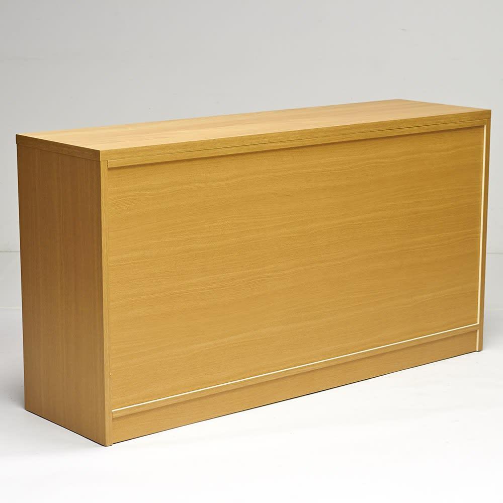 NexII ネックス2 天然木キッチン収納 カウンター 幅120cm ナチュラル 背面にも化粧を施し、美しく仕上げました。