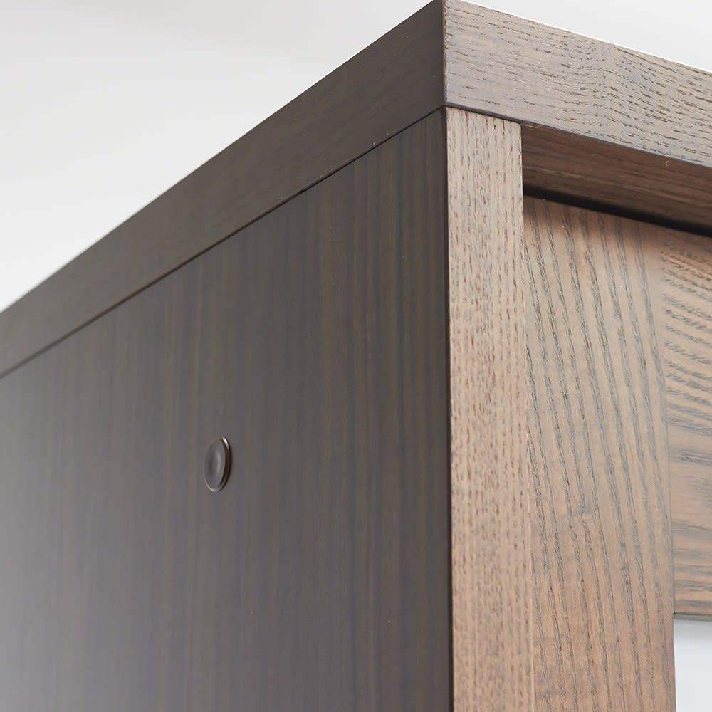 NexII ネックス2 天然木キッチン収納 キャビネット 幅120cm 角の仕上げまでこだわった日本製の食器棚です。