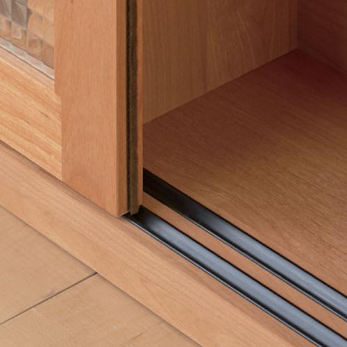 Pippi/ピッピ カウンター下収納庫 引き戸 幅90奥行32cm 【引き戸はレール式】少しの力でスムーズに開閉できます。