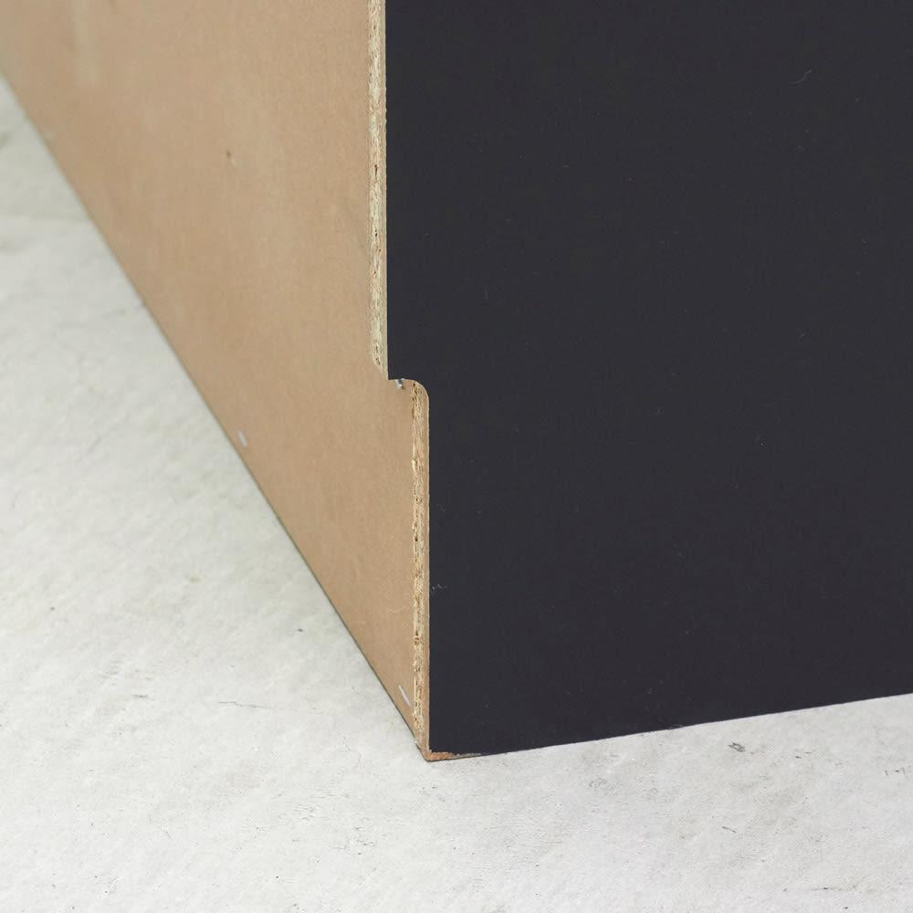 Rossi/ロッシ カウンター下収納庫 収納庫幅119奥行20cm 高さ10奥行1cmの幅木よけカットを施しているので壁にぴったり設置可能です
