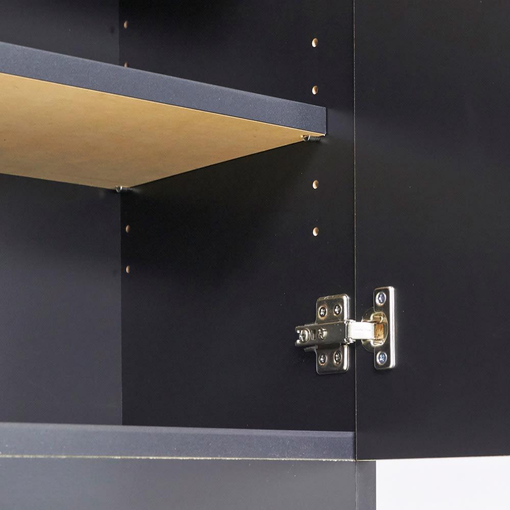 Rossi/ロッシ カウンター下収納庫 収納庫幅119奥行29.5cm 棚板は3cm間隔11段階で高さ調節が可能です