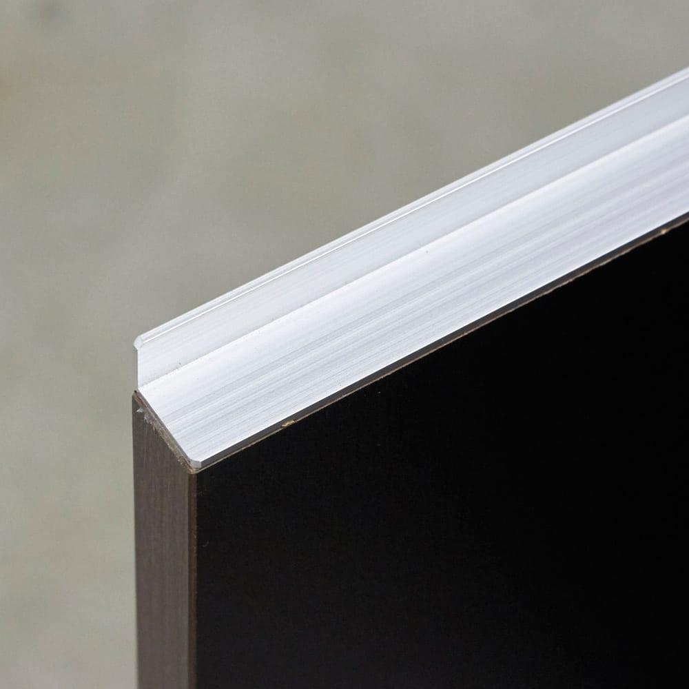 Rossi/ロッシ カウンター下収納庫 収納庫幅119奥行29.5cm 取っ手は高級感のあるアルミ製
