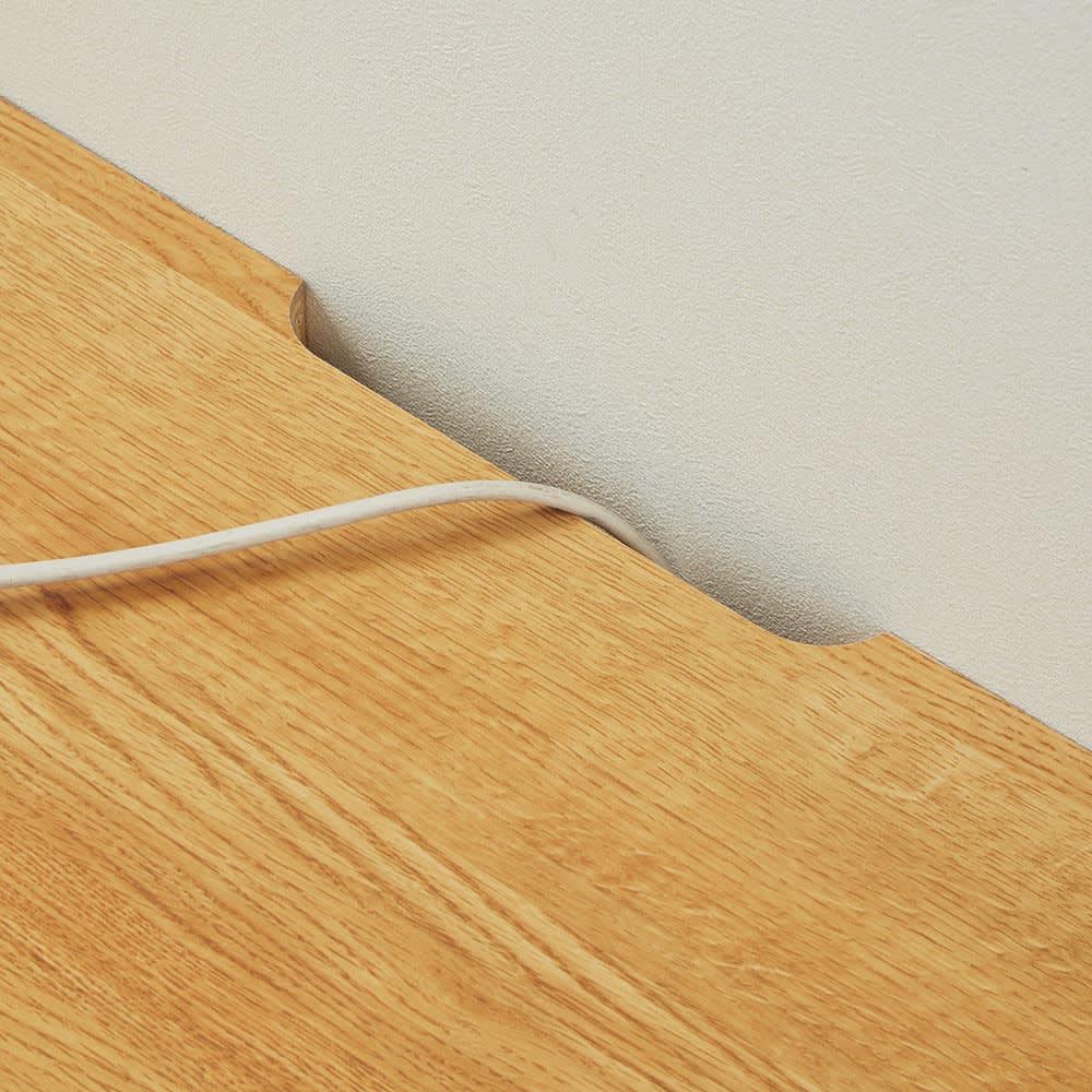 Charente/シャラント リビングボード テレビ台 幅130cm 天板奥のカット加工で配線も簡単。