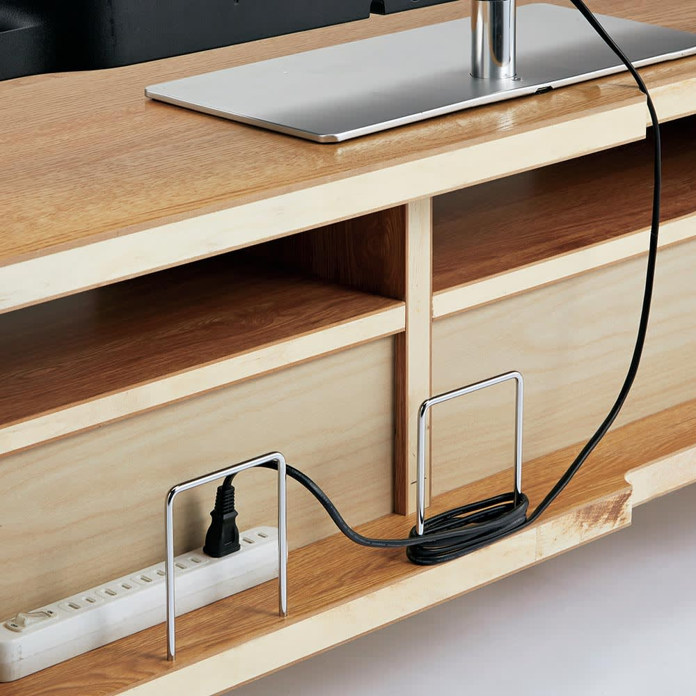 Charente/シャラント リビングボード 棚付きテレビ台 幅130cm