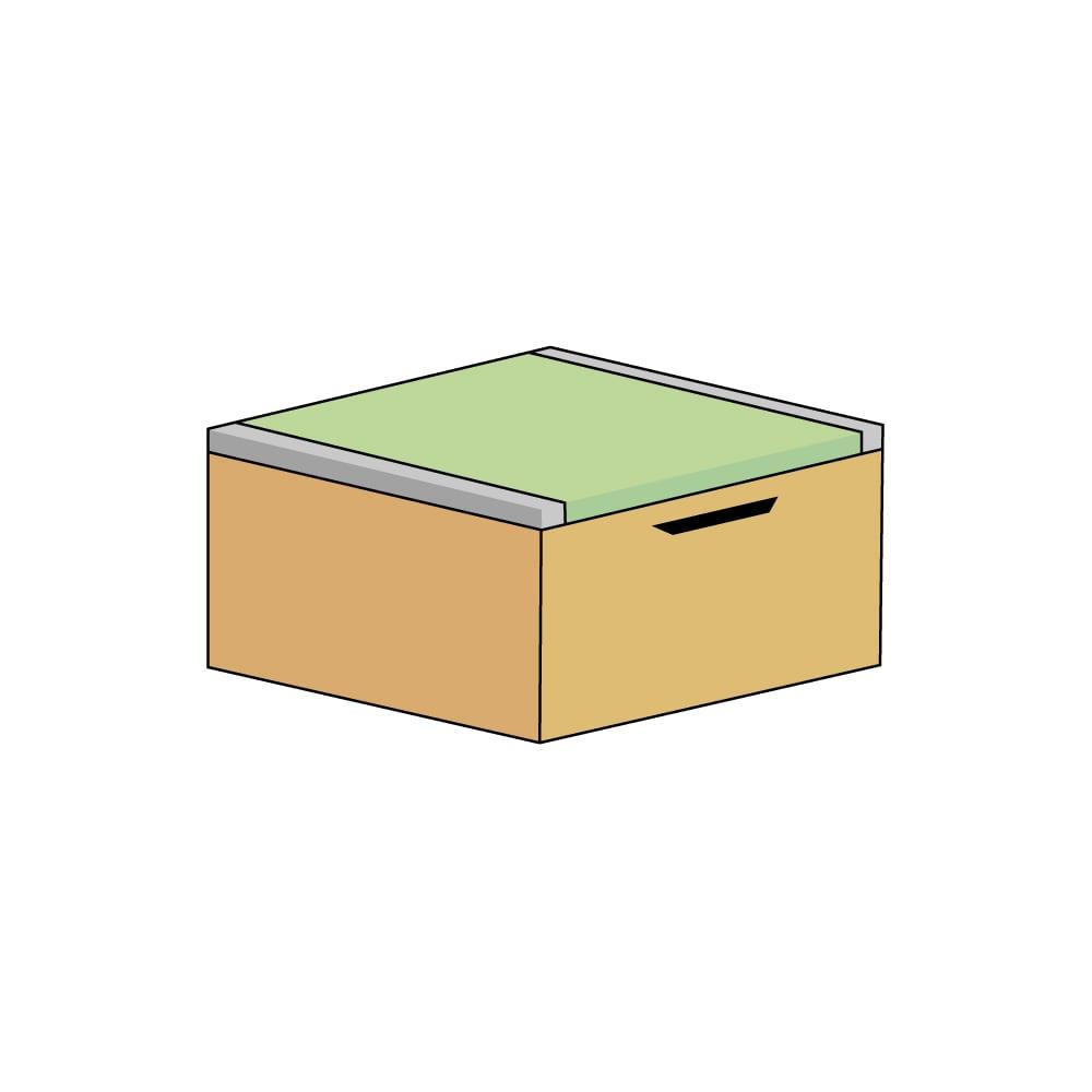 美草跳ね上げ式ユニット畳 畳単品 高さ33cm ミニ半畳 H79012