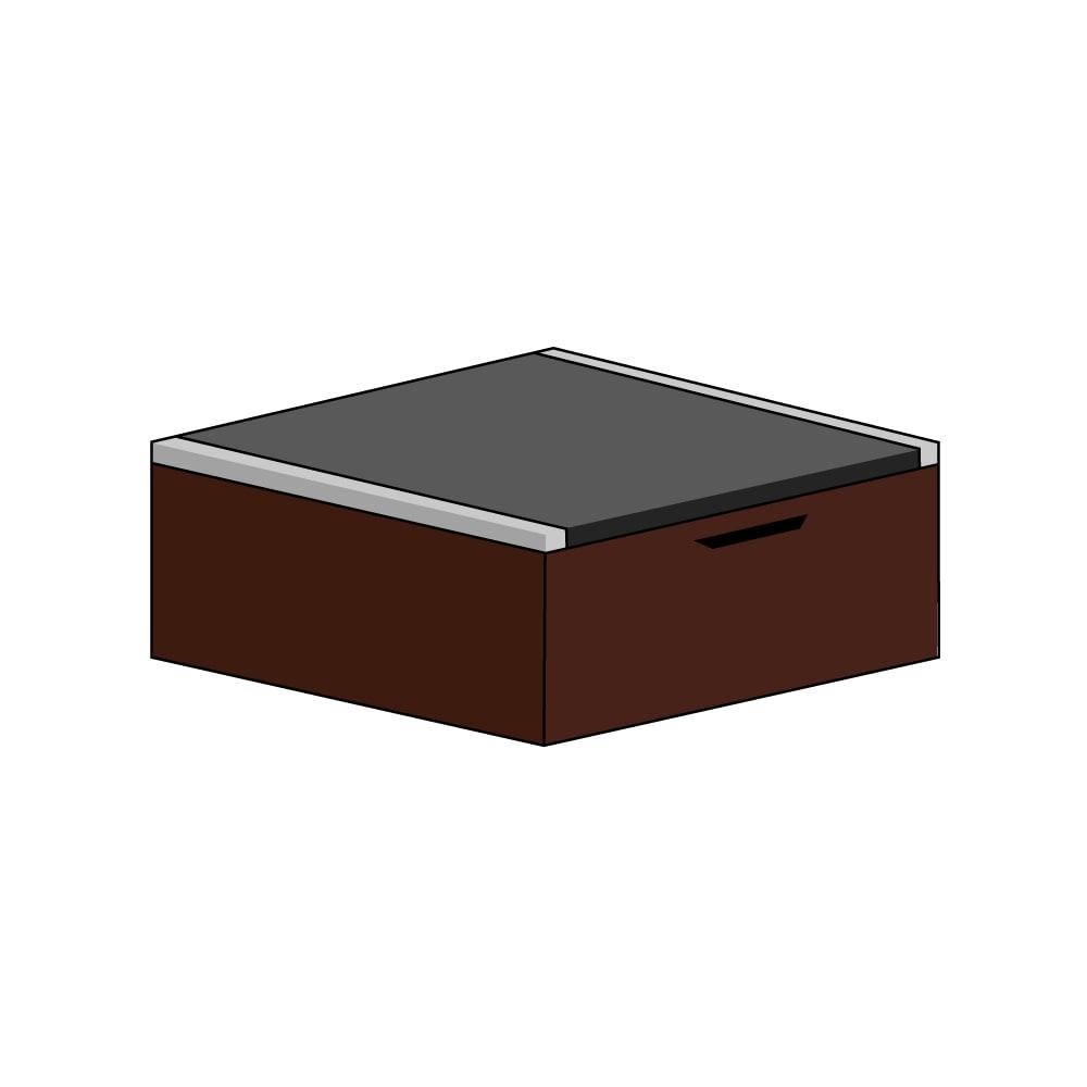 美草跳ね上げ式ユニット畳 畳単品 高さ33cm 半畳 H79014
