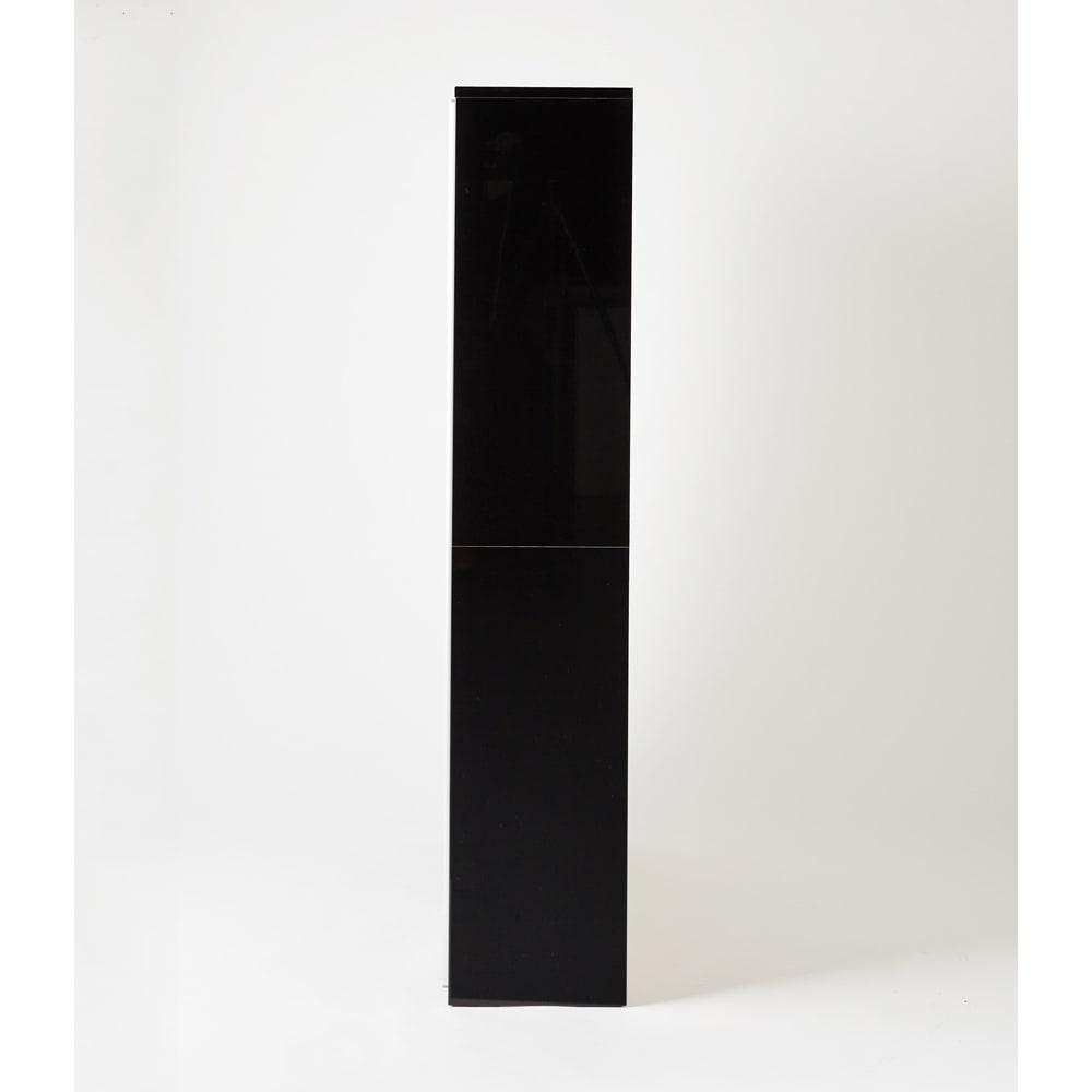 Evan(エヴァン) スライドシェルフ ハイタイプ本棚 幅120cm イ) ブラック 側面