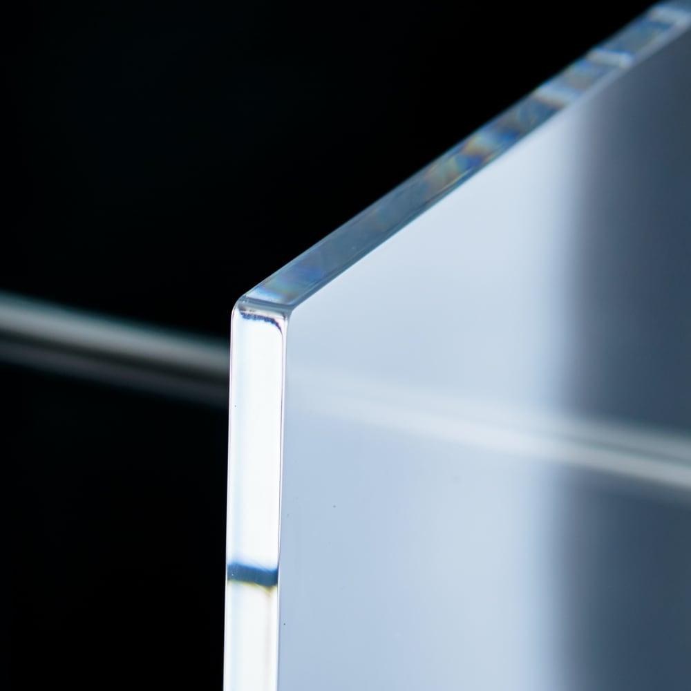 Lumiere/ルミエル  クリアブックシェルフ 幅102cm 透明感が美しい10mm厚のアクリル。