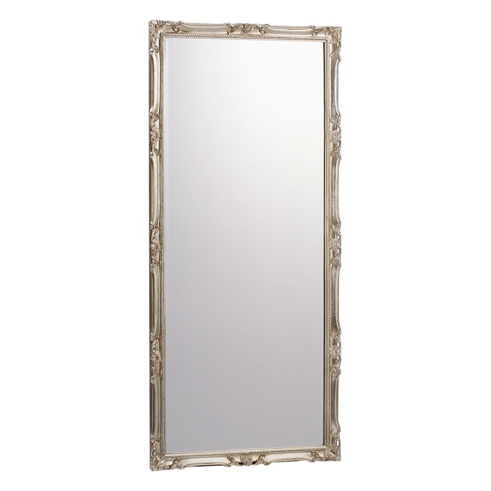 イタリア製スタンドミラー(鏡)大 幅83cm高さ181.5cm (イ)シルバー