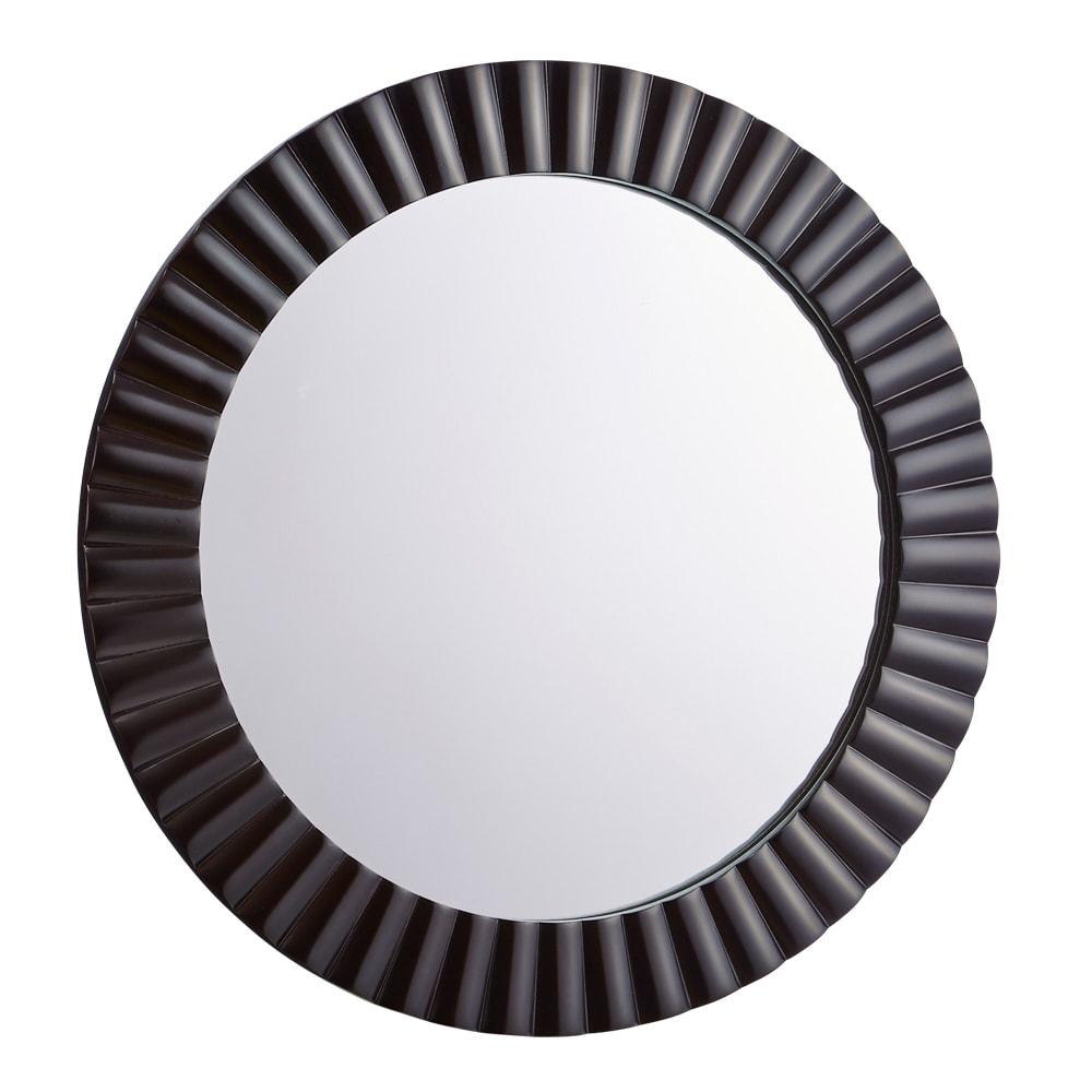 PHILOS/フィロス エレガントシリーズ 円形ウォールミラー・丸型壁掛けミラー 径60cm ダークブラウン