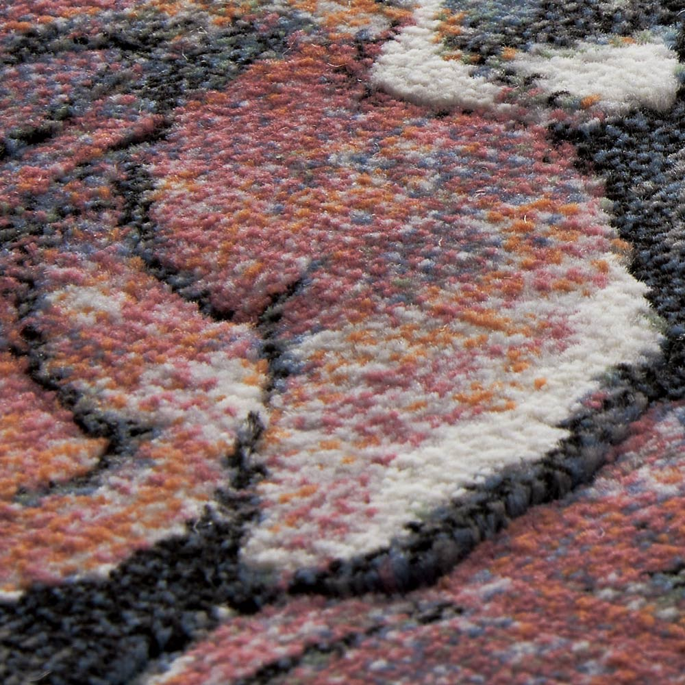 ベルギー製ウィルトン織りラグ〈フィデリオ〉 [生地アップ] ブラック系