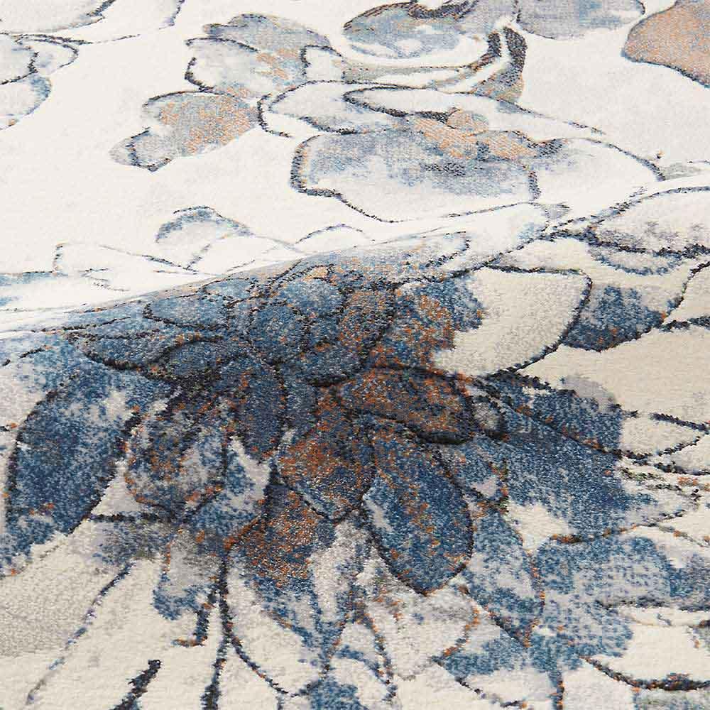 ベルギー製ウィルトン織りマット〈フィデリオ〉 [生地アップ] (イ)ブルー系