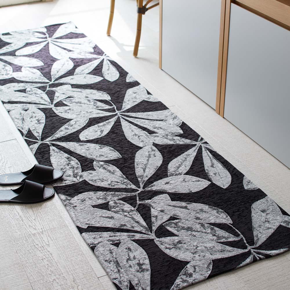 カーテン 敷物 ソファカバー カーペット ラグ マット キッチンマット 約65×240cm(Botanico/ボタニコ イタリア製ジャガード織マット) H80738